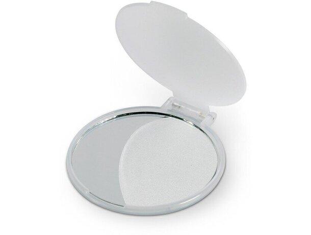 Espejo circular para empresas blanco transparente