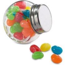 Bote de cristal con tapa de caramelos