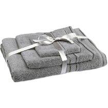 Set de 3 toallas d ebaño personalizado gris claro