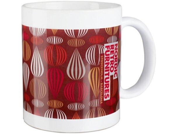 Taza de cerámica lisa para sublimacón a todo color grabada