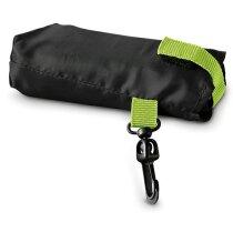 Bolsa de la compra plegable con funda y mosquetón personalizada negra