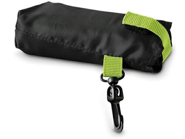 Bolsa de la compra con mosquetón personalizada negra