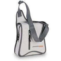 Bolsa bandolera con bolsillo vertical gris claro