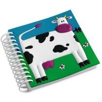 Libreta para niños con motivos de animales personalizada blanca