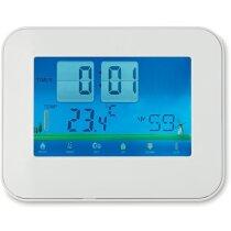 Estación meteorológica con pantalla táctil digital personalizada blanca