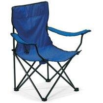 Silla plegable de camping y playa azul