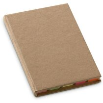 Set de notas adhesivas en cartón reciclado beige personalizado