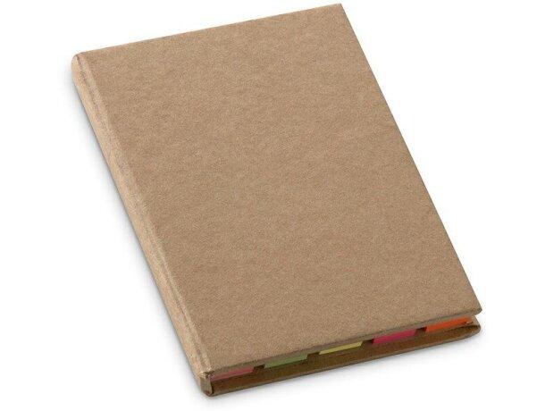 Set de notas adhesivas en cartón reciclado personalizada beige