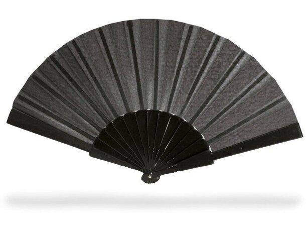 Abanico color liso en varios modelos personalizado negro
