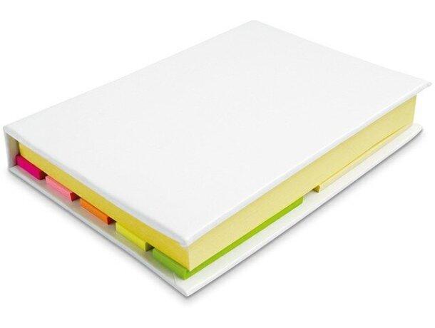 Kit de notas adhesivas y marcadores personalizada blanca