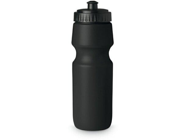 Botella deportiva de plástico sólido 700 ml barata negra