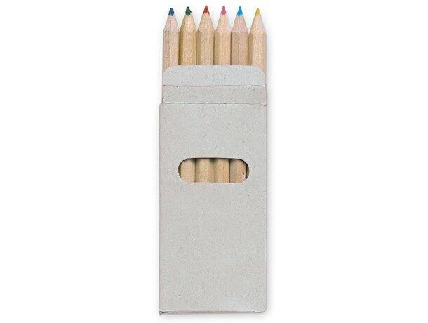 Caja con 6 lápices de colores personalizada