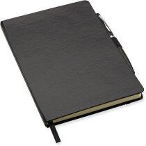 Cuaderno A5 con bolígrafo a juego negro