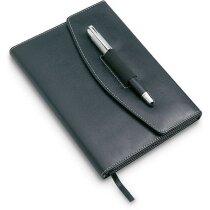 Portafolios A5 con bolígrafo incluido negro