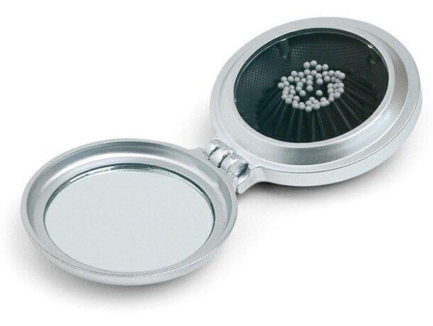 Espejo de bolso plegable acabado metálico