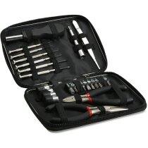 Estuche de herramientas en aluminio personalizado negro
