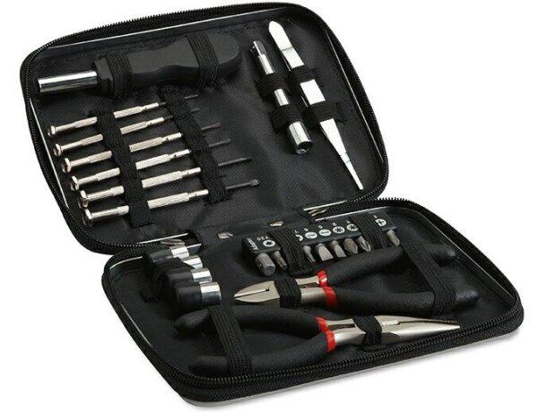 Estuche de herramientas en aluminio negro