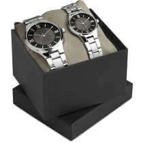 Set Reloj Para hombre Y mujer  negro