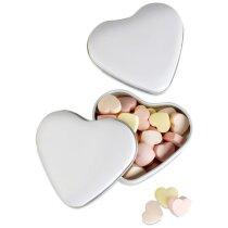 Caja Corazón Con Caramelos Para Regalo De Bodas