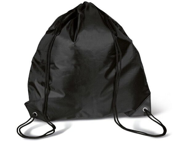 Mochila con cordones surtido de colores negra personalizado