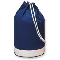 Macuto bicolor de algodón azul personalizado
