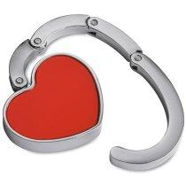 Cuelgabolsos con detalle corazón barato rojo