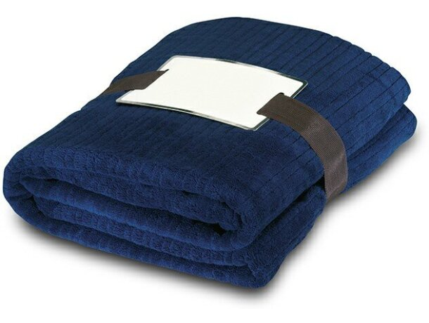 Manta polar 240 gr personalizada azul