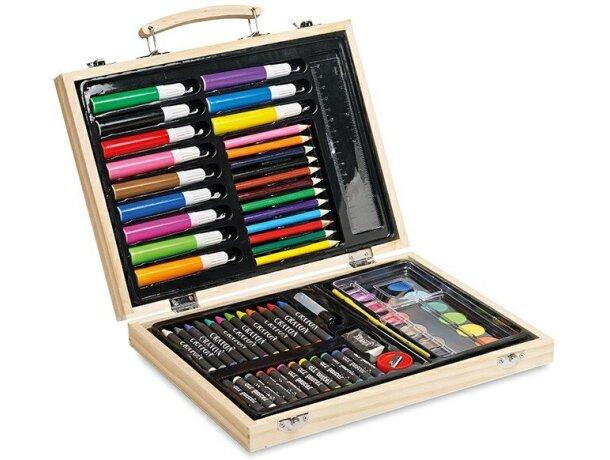 Estuche de madera con colores para pintar personalizado