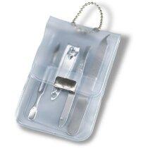 Set de manicura en estuche 3 piezas personalizado blanco transparente