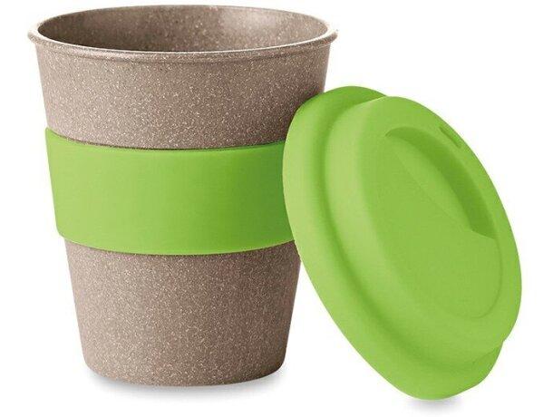 Taza de bambú con tapa de silicona barata