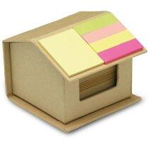 Set de notas adhesivas en forma de casita beige