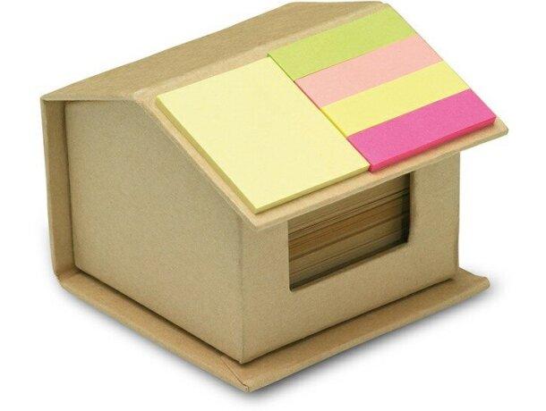 Set de notas adhesivas en forma de casita personalizada beige