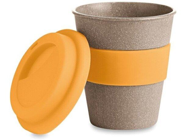 Taza personalizada de bambú con tapa de silicona personalizada