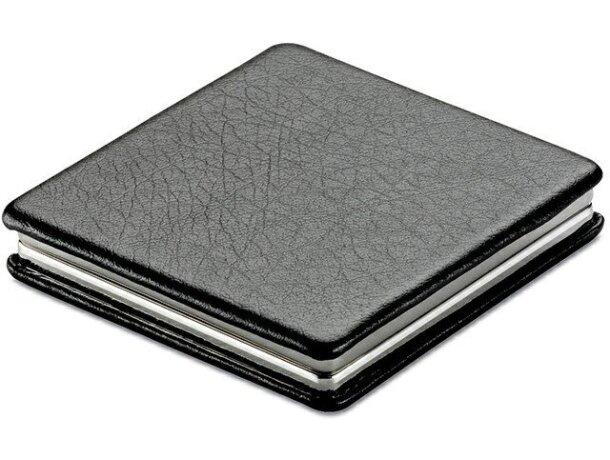 Espejo con cierre imantado personalizado negro