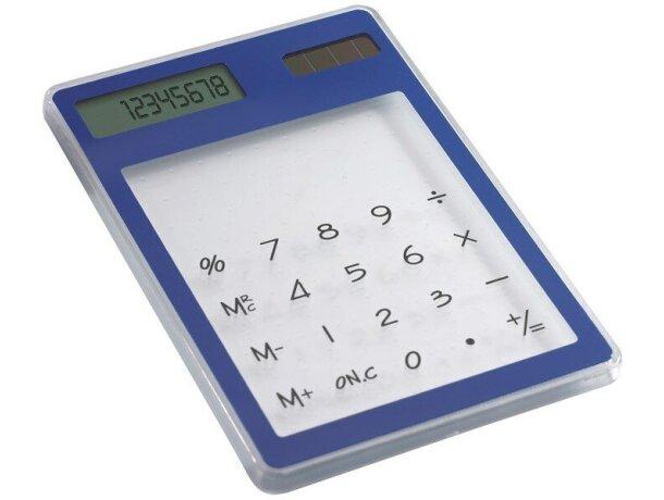 Calculadora plana solar azul personalizada