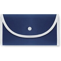 Bolsa plegable con forma de sobre personalizada azul