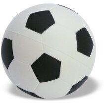 Antiestrés pelota de fútbol blanco y negro personalizada