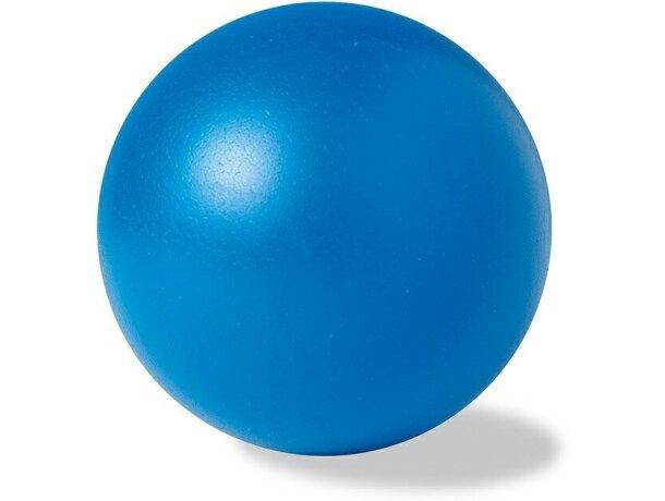 Pelota antiestrés de color personalizada azul
