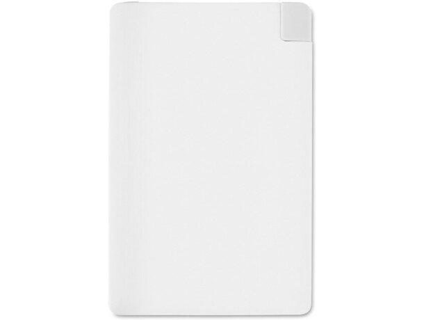Batería externa extra plana personalizada blanca