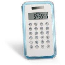 Calculadora de 8 dígitos sencilla azul transparente personalizada