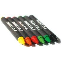 Estuche con ceras negras en color personalizada