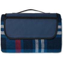 Manta de picnic plegable personalizada azul