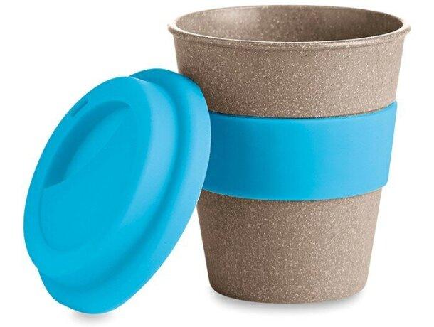 Taza de bambú con tapa de silicona