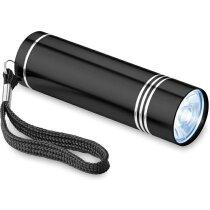 Linterna de aluminio con 1 led personalizada negra