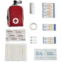 Kit de primeros auxilios básico personalizado rojo
