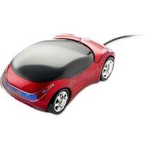 Ratón con forma de coche rojo