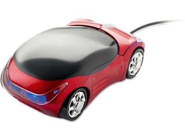 Ratón con forma de coche barato rojo
