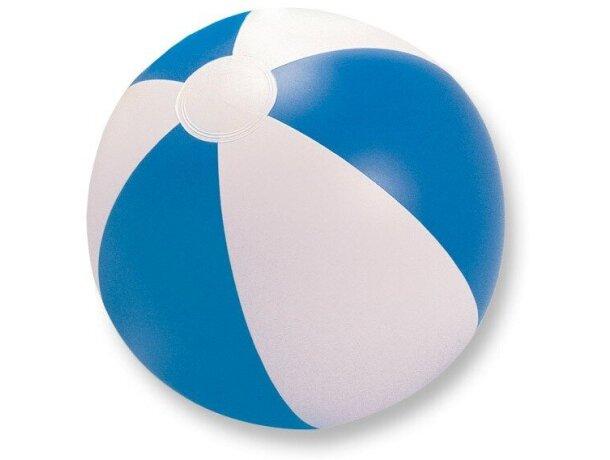Balón clásico hinchable de playa grabado azul