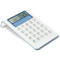 Calculadora de 8 dígitos de sobremesa azul transparente