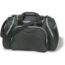 Bolsa de viaje multibolsillos personalizada negra